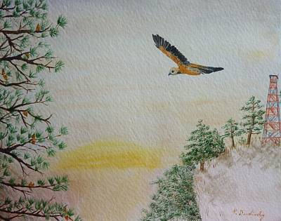 Hawk Hill Painting - The Tower by Patty Dopkin