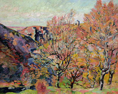 The Valley Of The Sedelle In Crozant Art Print