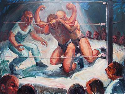 The Wrestling Match In Color Art Print by Bill Joseph  Markowski