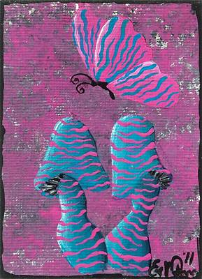 Surrealism Royalty Free Images - The Zebra Effect Royalty-Free Image by Oddball Art Co by Lizzy Love