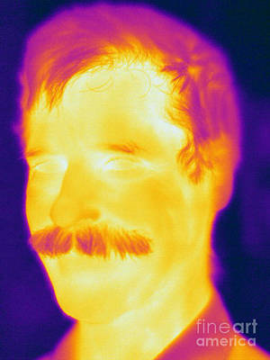 Thermographic Photograph - Thermogram Of A Man by Ted Kinsman