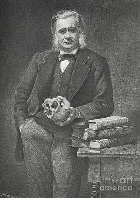 English Bulldog Drawing Photograph - Thomas Huxley, English Biologist by Omikron