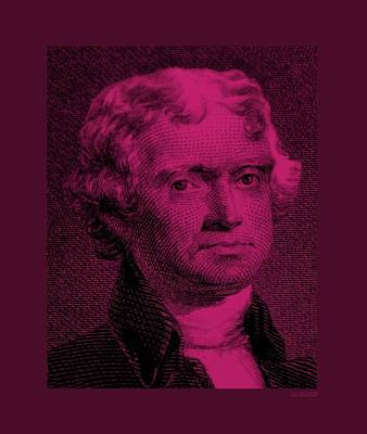 Portriat Photograph - Thomas Jefferson In Hot Pink by Rob Hans