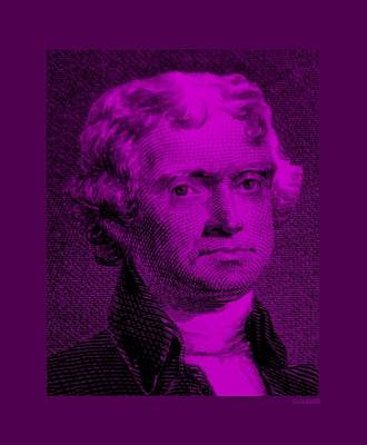 Antique Maps - THOMAS JEFFERSON in PURPLE by Rob Hans