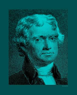 Nautical Animals - THOMAS JEFFERSON in TURQUOIS by Rob Hans