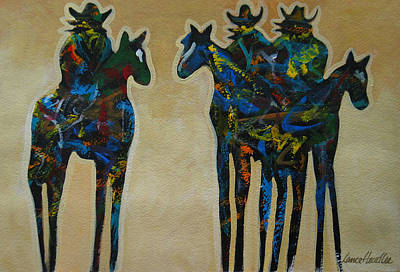 Painting - Three In Color by Lance Headlee