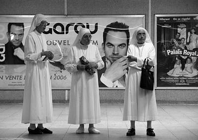 Photograph - Three Nuns by Robert Knight