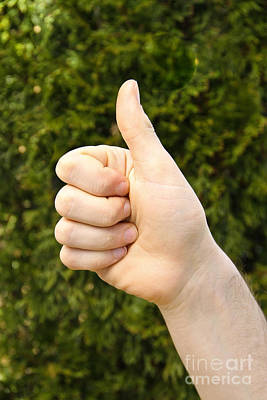 Thumbs Up Print by Photo Researchers, Inc.