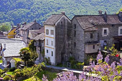 Dry Stone Wall Photograph - Ticino by Joana Kruse