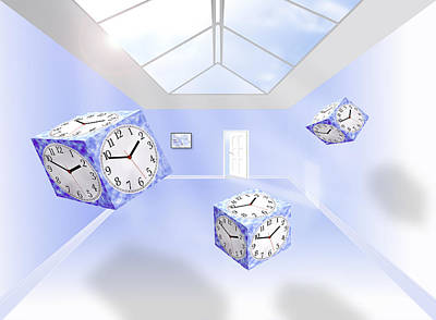 Imaginative Art Digital Art - Time Cubed by Mike McGlothlen