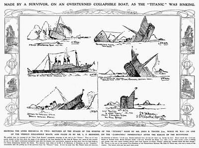 Photograph - Titanic: Sinking, 1912 by Granger