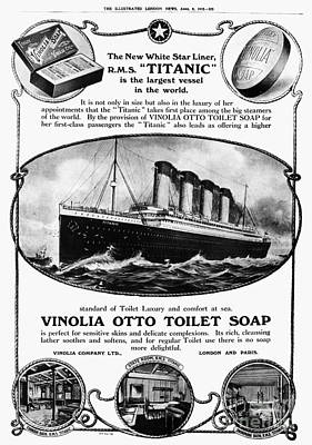 Photograph - Titanic: Soap Ad, 1912 by Granger