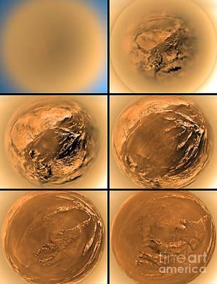 Photograph - Titans Surface by Nasa