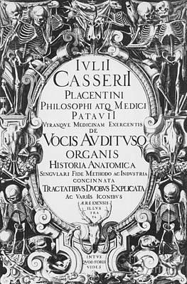 Title Page, Giulio Casserios Anatomy Art Print by Science Source