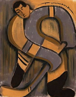 Hockey Painting - Abstract Hockey Player by Tommervik