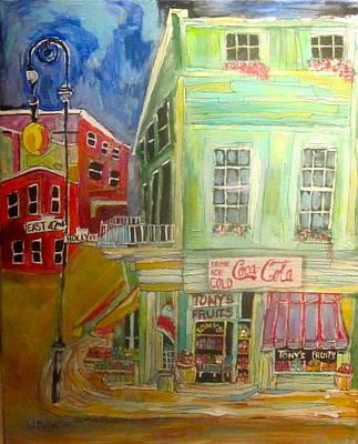 Litvack Painting - Tony's Fruit Store by Michael Litvack