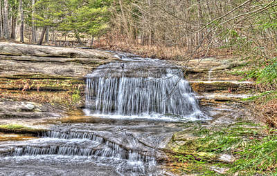 Top Of The Upper Falls Art Print by Shirley Tinkham