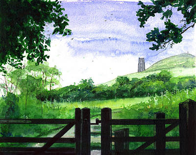 Painting - Tor In Glastonbury by John D Benson