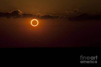 Totality During Annular Solar Eclipse Art Print by Phillip Jones