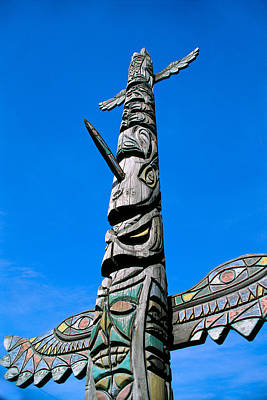 Handcarved Photograph - Totem Pole by Greg Vaughn - Printscapes