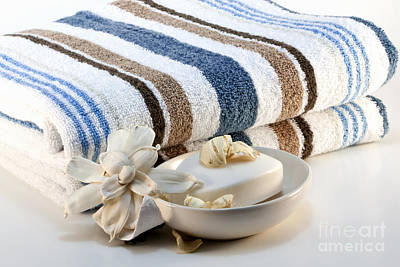 Potpourri Photograph - Towel With Soap by Blink Images