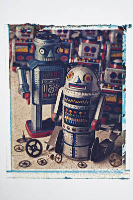 Photograph - Toy Robots by Garry Gay