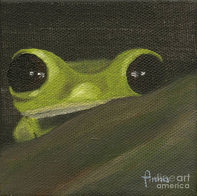Painting - Tree Frog 3 by Annemeet Hasidi- van der Leij