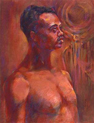 Pastel - Tribesman by Joan  Jones