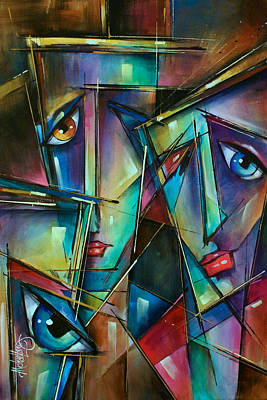 Urban Expressions Painting - Trio by Michael Lang