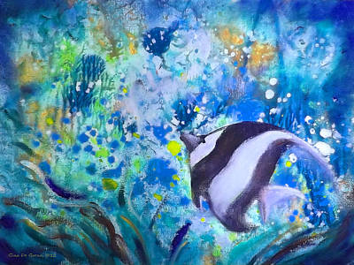 Painting - Tropical Fish by Gina De Gorna
