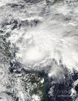 Tropical Storm Ida In The Caribbean Sea Art Print by Stocktrek Images