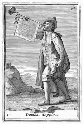 Trumpet, 1723 Art Print by Granger
