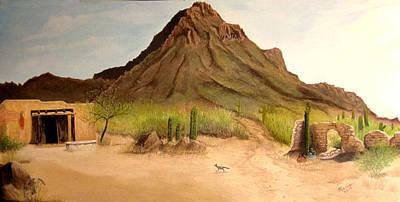 Ruins Mixed Media - Tucson Ranch by Maris Sherwood