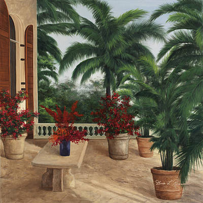 Painting - Tuscan Patio by Diane Romanello