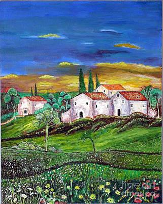 Painting - Tuscany by Kostas Dendrinos