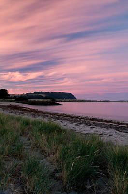 Twilight After A Sunset At A Beach Art Print by Ulrich Schade