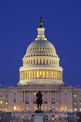 Twilight Over Us Capitol Print by Brian Jannsen