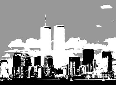 Twin Towers Bw3 Art Print by Scott Kelley