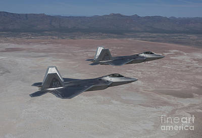 Cactus - Two F-22 Raptors On A Training Mission by HIGH-G Productions