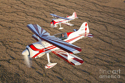 Two Pitts Model 12 Aircraft In Flight Art Print