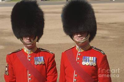 Two Warrant Officers Of The Irish Art Print by Andrew Chittock