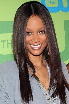 Tyra Banks At Arrivals For The Cw Art Print
