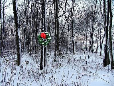 Photograph - Tyra's Woods At Christmas by Julie Dant