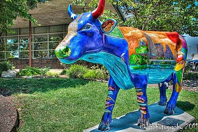 Painting - Udderly Austin Side View by Patti Schermerhorn