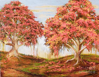 Painting - Under The Trees by Vic  Mastis