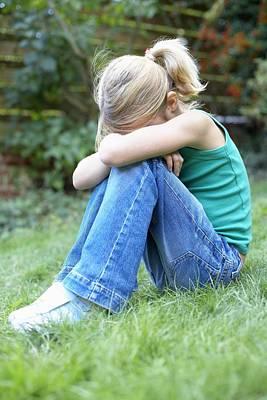 Contemplative Photograph - Unhappy Girl by Ian Boddy