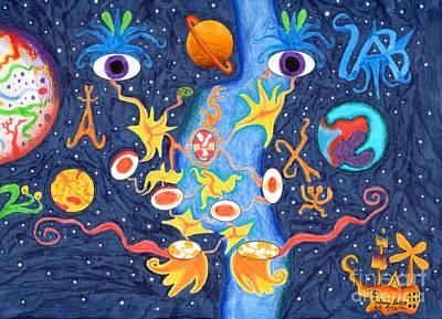 Drawing - Uni Eye by Alfonso  Furrer