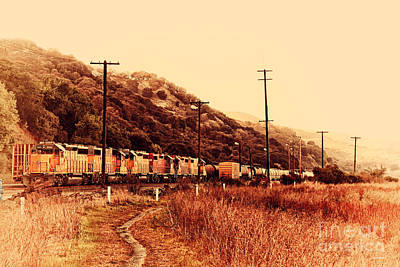 Union Pacific Locomotive Trains . 7d10558 Art Print by Wingsdomain Art and Photography