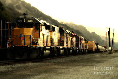Union Pacific Locomotive Trains . 7d10563 Print by Wingsdomain Art and Photography