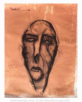 Drawing - Untitled by Ashish Kushwaha
